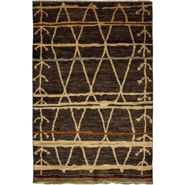 "Moroccan, Hand Knotted Area Rug - 5'2"" X 7'10"" For Sale"