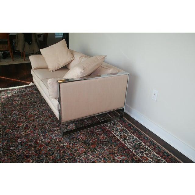 Milo Baughman Chrome Sofa and Loveseat - Image 8 of 11