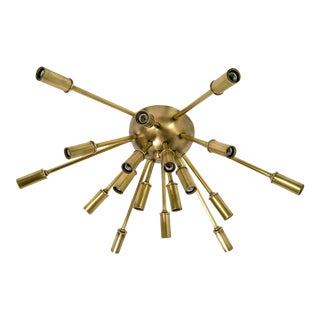 Brass Sputnik Flush Mount/Sconce For Sale