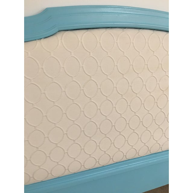 Upholstered Tourquoise Twin Headboard - Image 3 of 3