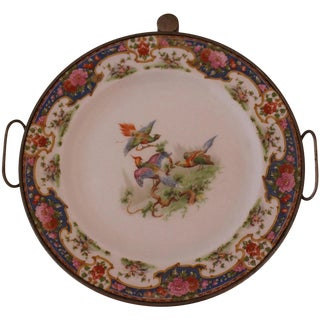 Victorian Hot Water Reservoir Transferware Plate For Sale