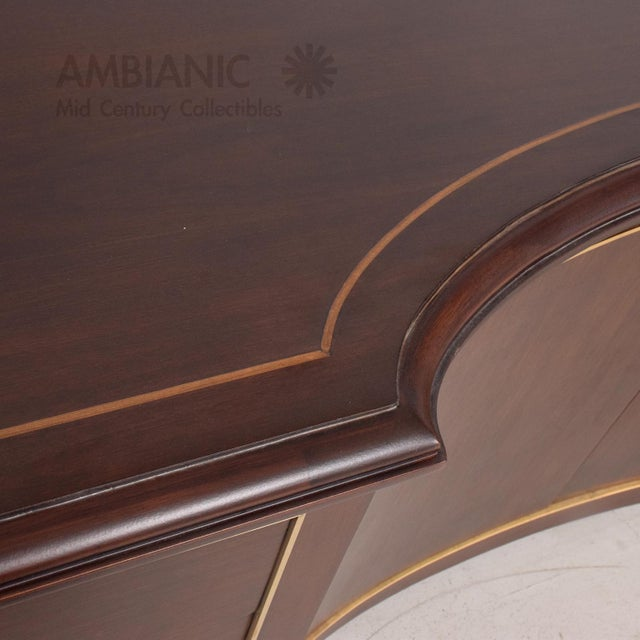 Mexican Modernist Mahogany and Bronze Credenza Dresser Attributed Arturo Pani For Sale In San Diego - Image 6 of 10