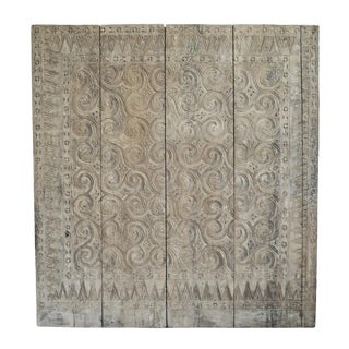 Toraja Carved Panel Headboard For Sale