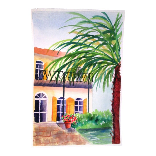 'Afternoon' Watercolor Painting - Image 1 of 7