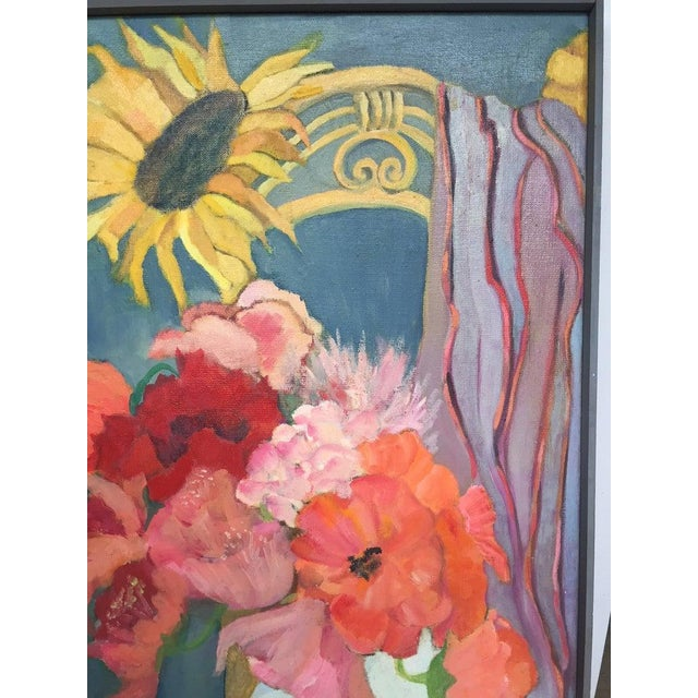 Contemporary 1980s Original Oil on Canvas Still Life Painting For Sale - Image 3 of 12