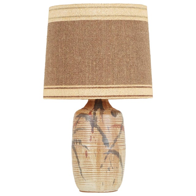 1960s David Cressey Lamp for Architectural Pottery With Maria Kipp Shade For Sale