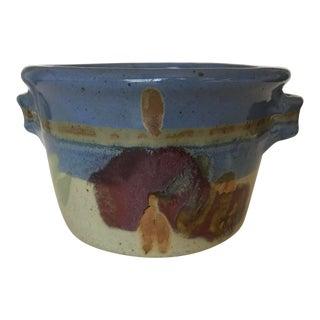 Vintage Glazed Pottery Bread Baker For Sale