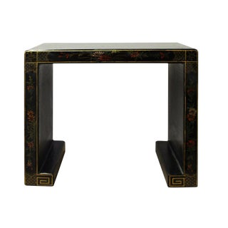 Chinese Black Lacquer Scenery Table Stand