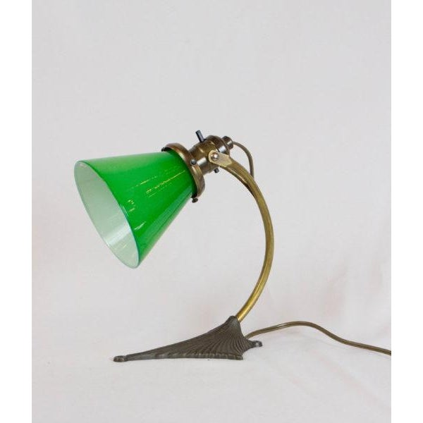 Glass Bradley and Hubbard Pinup/Desk Lamp For Sale - Image 7 of 8