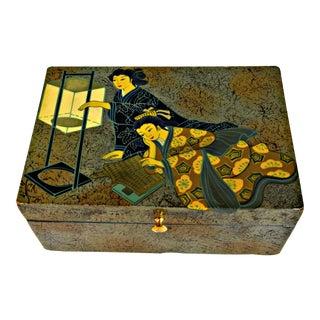 Asian Motive Trinket Box For Sale