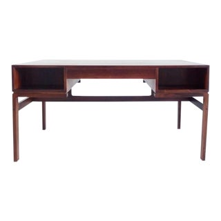 1960s Scandinavian Modern Arne Wahl Iversen Rosewood Writing Desk For Sale