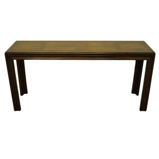 "Modern Lane Furniture Italian Provincial Bookmatched Walnut 56"" Sofa Table For Sale"