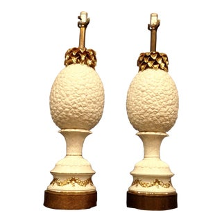 """Enormous """"Pineapple"""" Lamps - a Pair For Sale"""