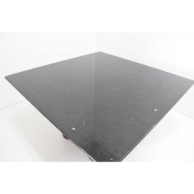 Contemporary Mario Bellini Il Colonnato Black Marble Table For Sale - Image 3 of 13