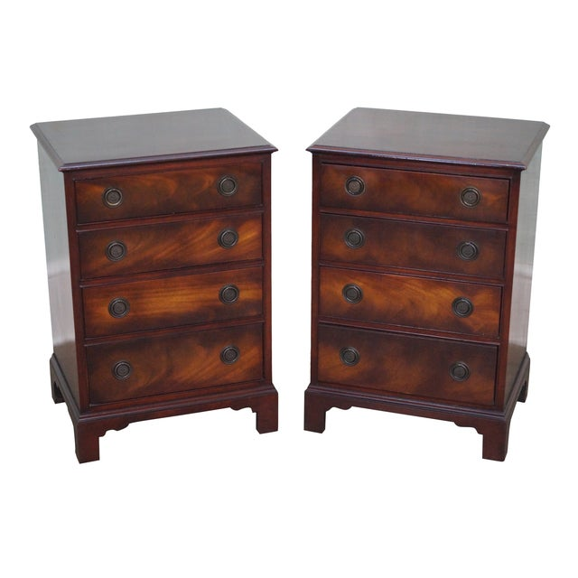 1940s Chippendale Mahogany Nightstands - Pair - Image 1 of 10