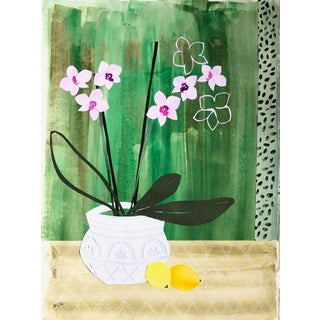 """Emerald and Orchid"" Collage by Meg Britten For Sale"