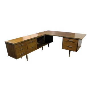 Mid-Century Modern Executive Secretary Desk