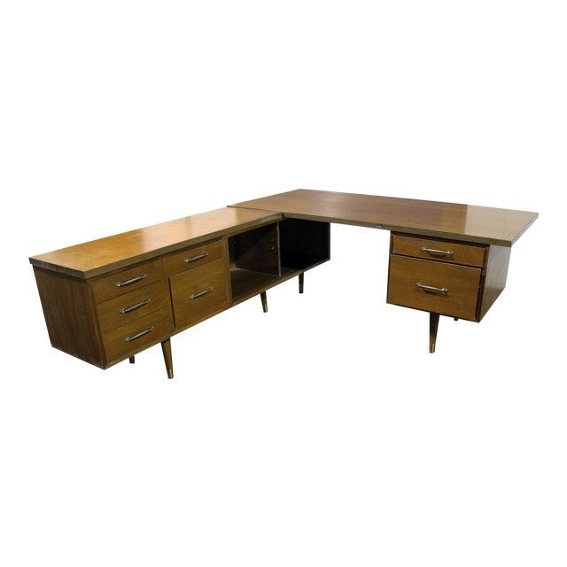 Mid-Century Modern Executive Secretary Desk For Sale