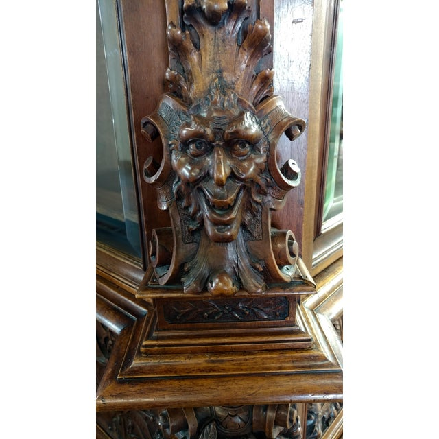 "19th century ""Highly carved"" Italian Renaissance Bookcase bookcase - Image 6 of 10"