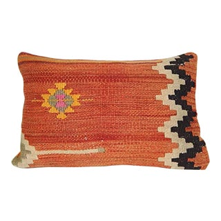 Vintage Turkish Kilim Pillow Cover 16 X 24 Inch (40 X 60 Cm) Anatolian Kilim Pillow, Artdeco Pillow For Sale