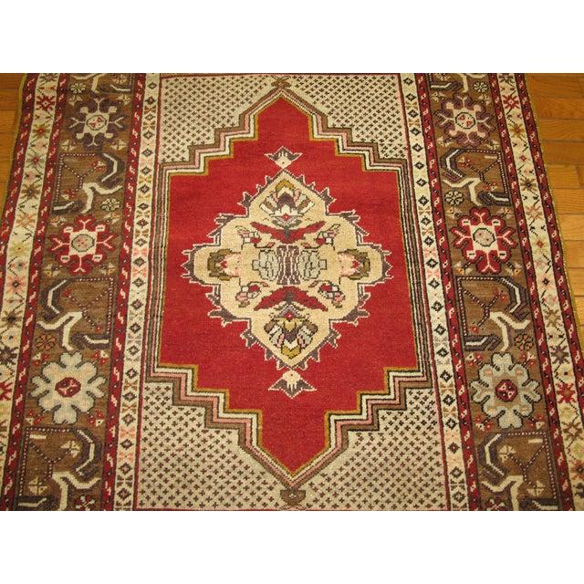 Islamic Vintage Handmade Tribal Rug - 3′6″ × 5′9″ For Sale - Image 3 of 5
