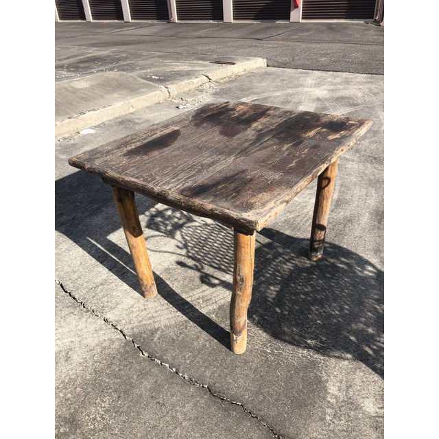 Rustic Adirondack Work or Side Table For Sale - Image 13 of 13
