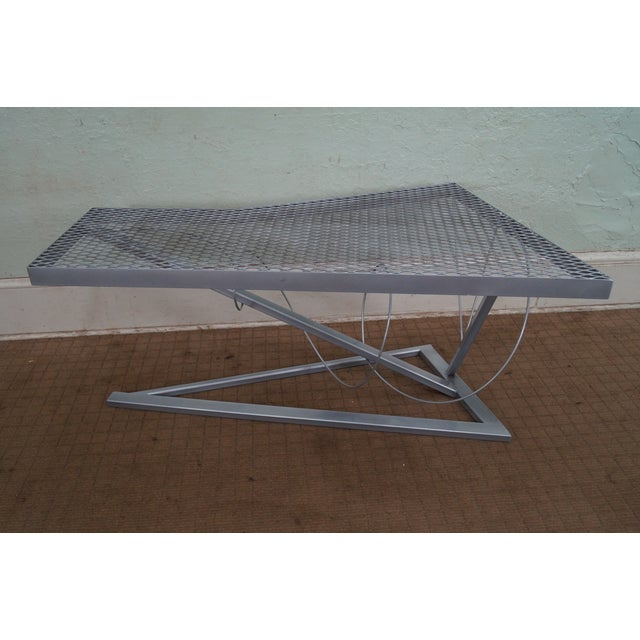 Contemporary Expanded Metal Coffee Table - Image 4 of 10
