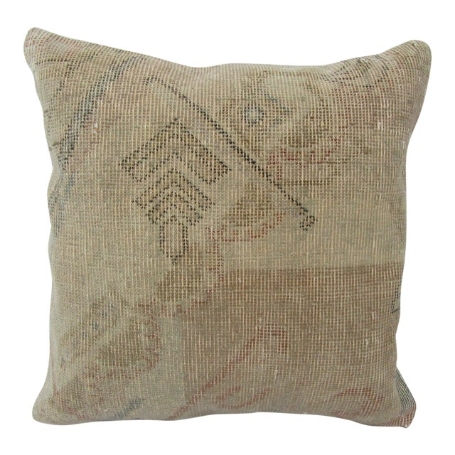 Turkish Faded Decorative Vintage Pillow For Sale