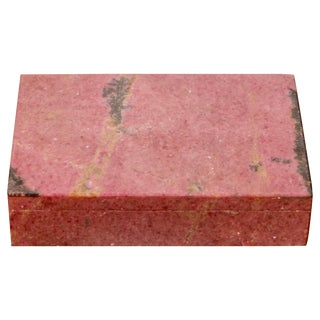 Vintage Rhodochrosite Veneered Box For Sale