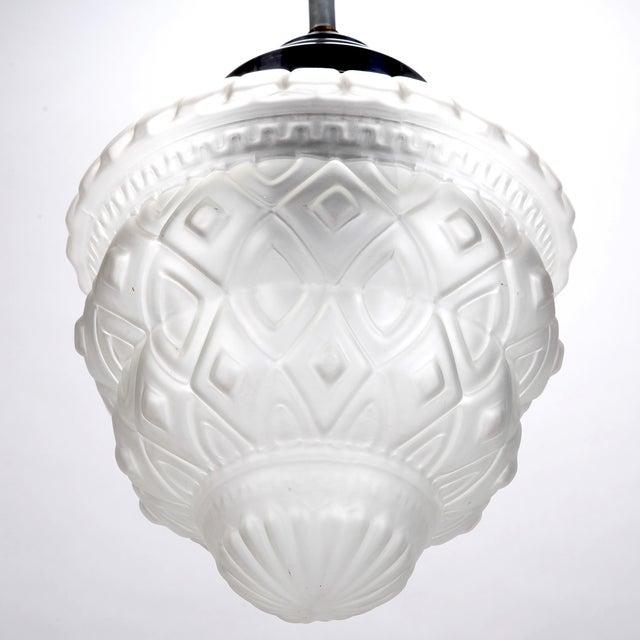 Schneider French Art Deco Pendant Chandelier - Image 2 of 6