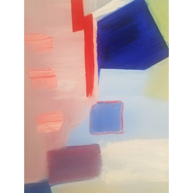 """Abstract Contemporary """"Sloane Square"""" Oil Painting by Christine Frisbee For Sale - Image 4 of 10"""