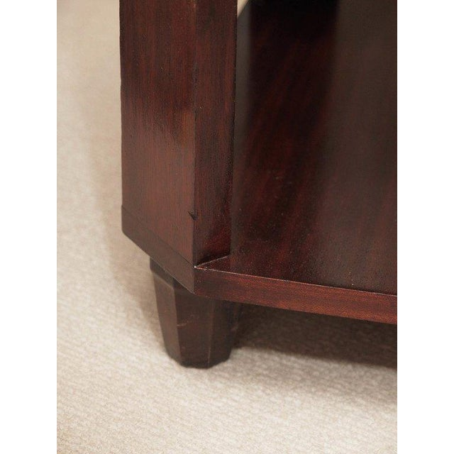 2-Ties Art Deco Side Table in Mahogany For Sale - Image 5 of 7