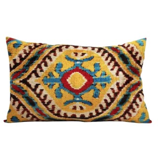 Tierra Silk Velvet Accent Pillow For Sale