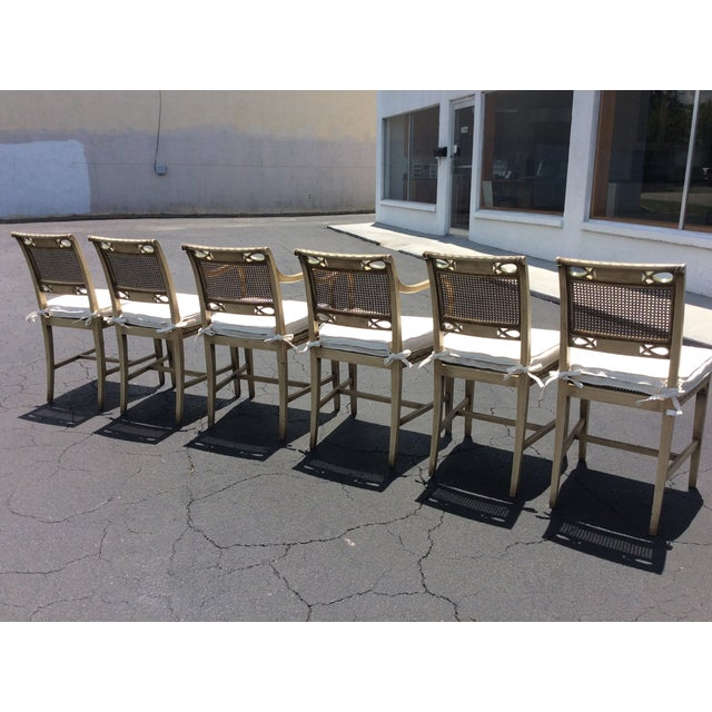 1920s 1920s French Country Wicker Dining Chairs - Set of 6 For Sale - Image 5 of 13