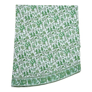 Aria Green Round Tablecloth, 120-Inch For Sale