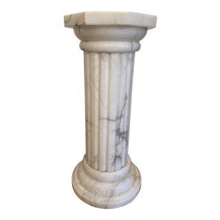Vintage Italian Marble Doric Column Pedestal For Sale
