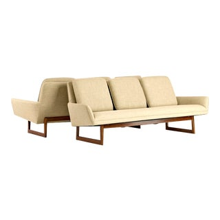 1960's Vintage Jens Risom Sofas- A Pair For Sale