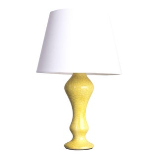 """Yellow Crackle Finish """"Arnie"""" Lamp For Sale"""