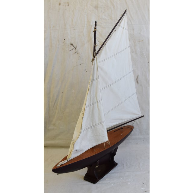 Vintage Nautical Sailing Ship/Boat Model W/Stand For Sale - Image 4 of 13
