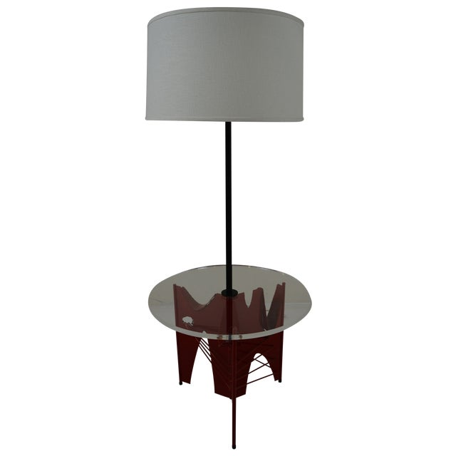 Harry Balmer Brutalist Floor Lamp With Table - Image 1 of 10