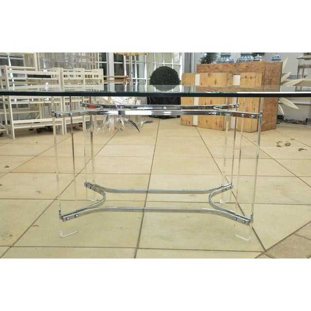 Glass Mid-Century Dining Table by Charles Hollis Jones For Sale - Image 7 of 7