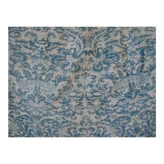 1930s Fortuny Bleu Corone Curtain Drape Panel For Sale