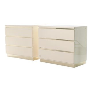 Pair of Small Lacquer Chest of Drawers by j.c. Mahey 1970's For Sale