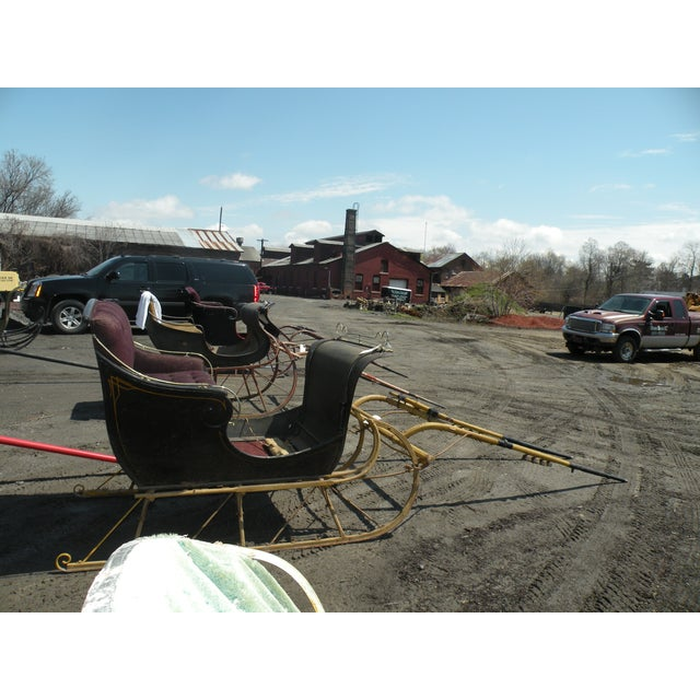 Antique Portland Cutter Sleigh Christmas Sled For Sale - Image 9 of 10