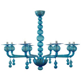 Murano Glass Customizable Chandelier in the Style of Barbini