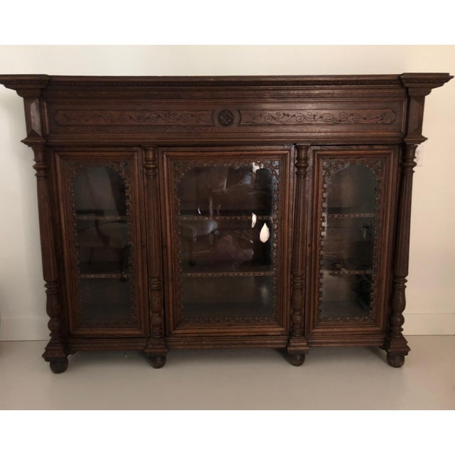 19th Century Traditional Oak Bookcase For Sale - Image 4 of 4
