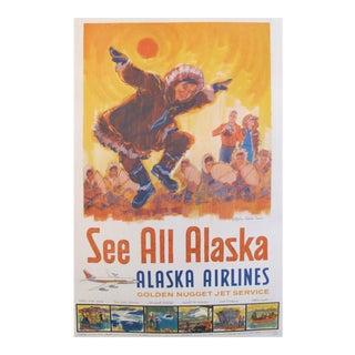 Original 1960s Alaska Travel Poster For Sale