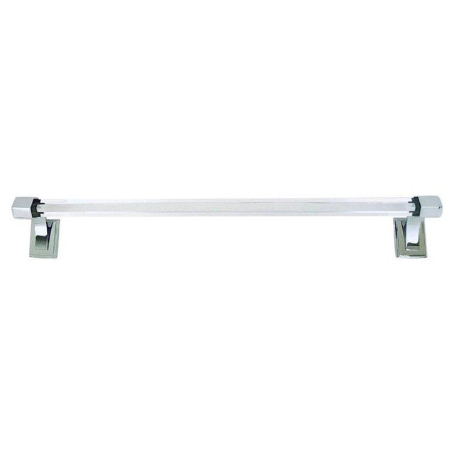 Vintage Faceted Glass and Nickel Towel Holder For Sale - Image 13 of 13