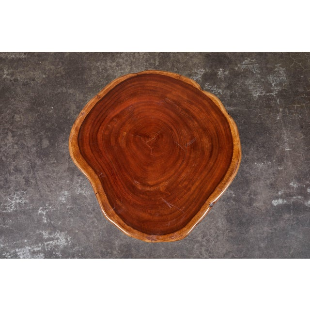 Early 20th Century Vintage Granary Mortar Indonesian Teak Stool For Sale - Image 5 of 8