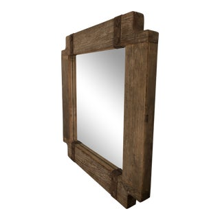 Rustic Wood Framed Mirror For Sale